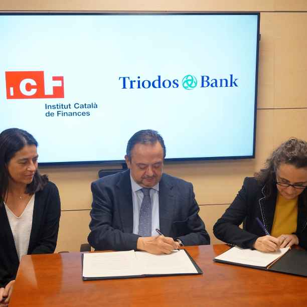 El ICF y Triodos Bank firman un convenio de colaboración para la cofinanciación de proyectos
